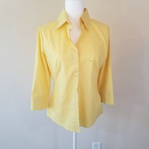 NEW YORK YELLOW TOP/BLOUSE SIZE: MEDIUM, BUTTONED
